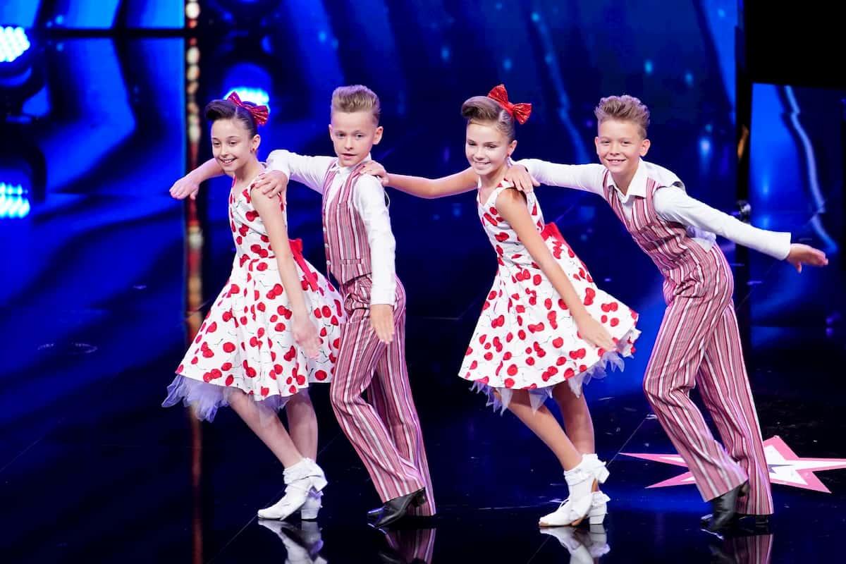 Letizia, Philipp, Eliana und David beim Supertalent am 31.10.2020