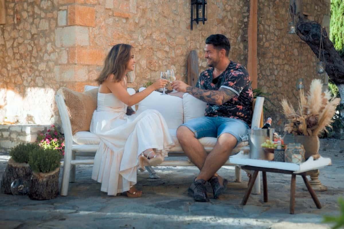 Melissa und Ioannis im Gespräch bei der Bachelorette am 28.10.2020