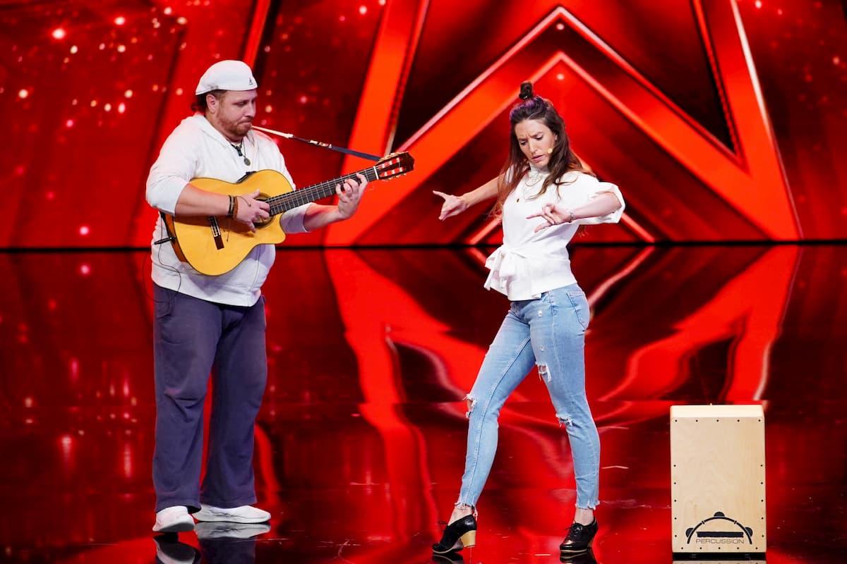 Charly Gitanos und Noelia Kandidaten beim Supertalent am 28.11.2020