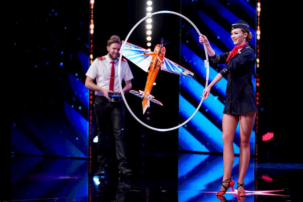 Daniel Golla und seine Frau Anna beim Supertalent am 7.11.2020