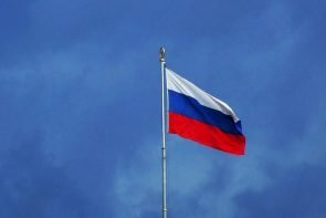 Eiskunstlauf Cup of Russia 2020 Kasan, 4. Etappe 8.-12.11.2020 - auf dem Bidl zu sehen ist eine Russische Flagge