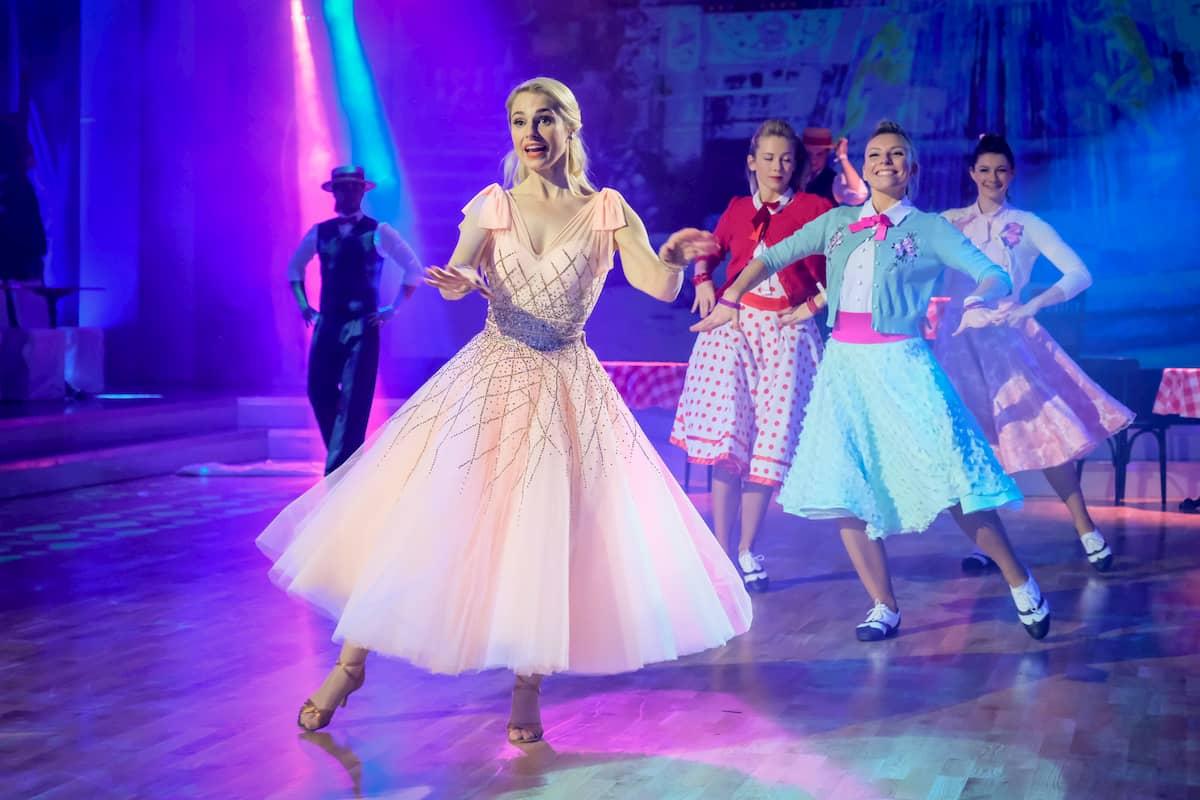 Silvia Schneider im Finale Dancing Stars 2020 am 27.11.2020