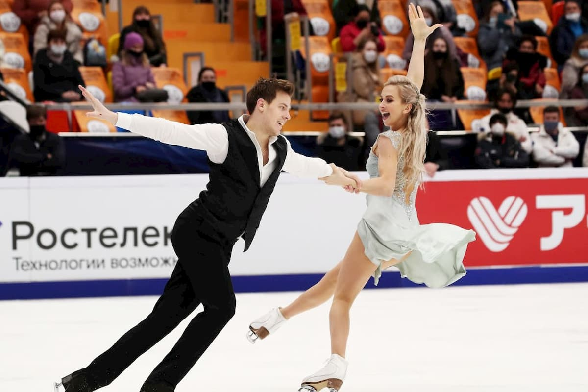 Victoria Sinitsina - Nikita Katsalapov beim ISU Grand Prix Moskau 2020 - Rostelecom Cup