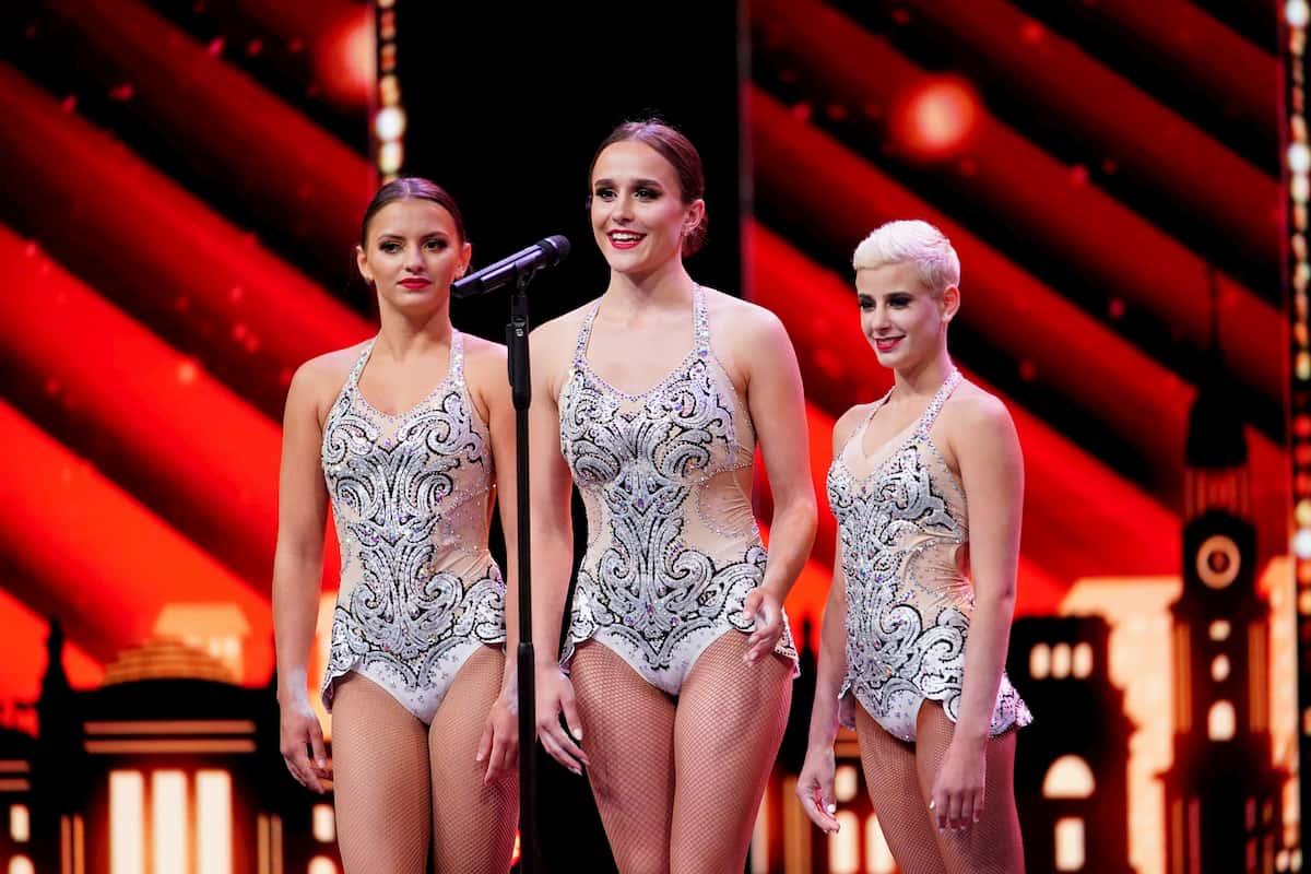 Akrobatinnen Trio ThreeG beim Supertalent am 5.12.2020