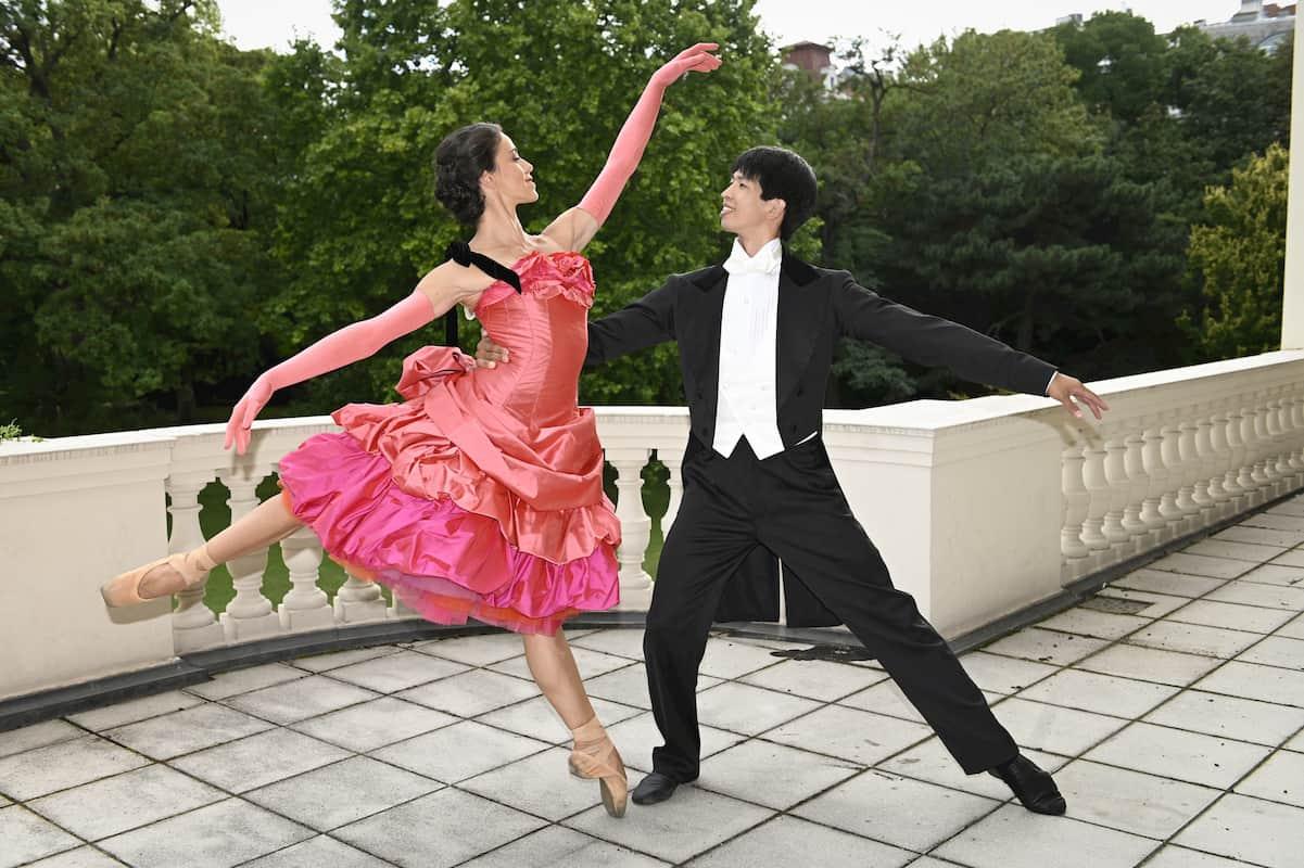 Alice Firenze und Masayu Kimoto beim Ballett Neujahrskonzert Wiener Philharmoniker 2021