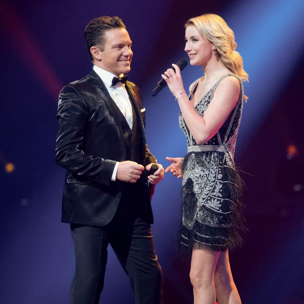 Anna-Carina Woitschack und Stefan Mross in der Silvester-Show 31.12.2020 Pilawa in ARD und ORF