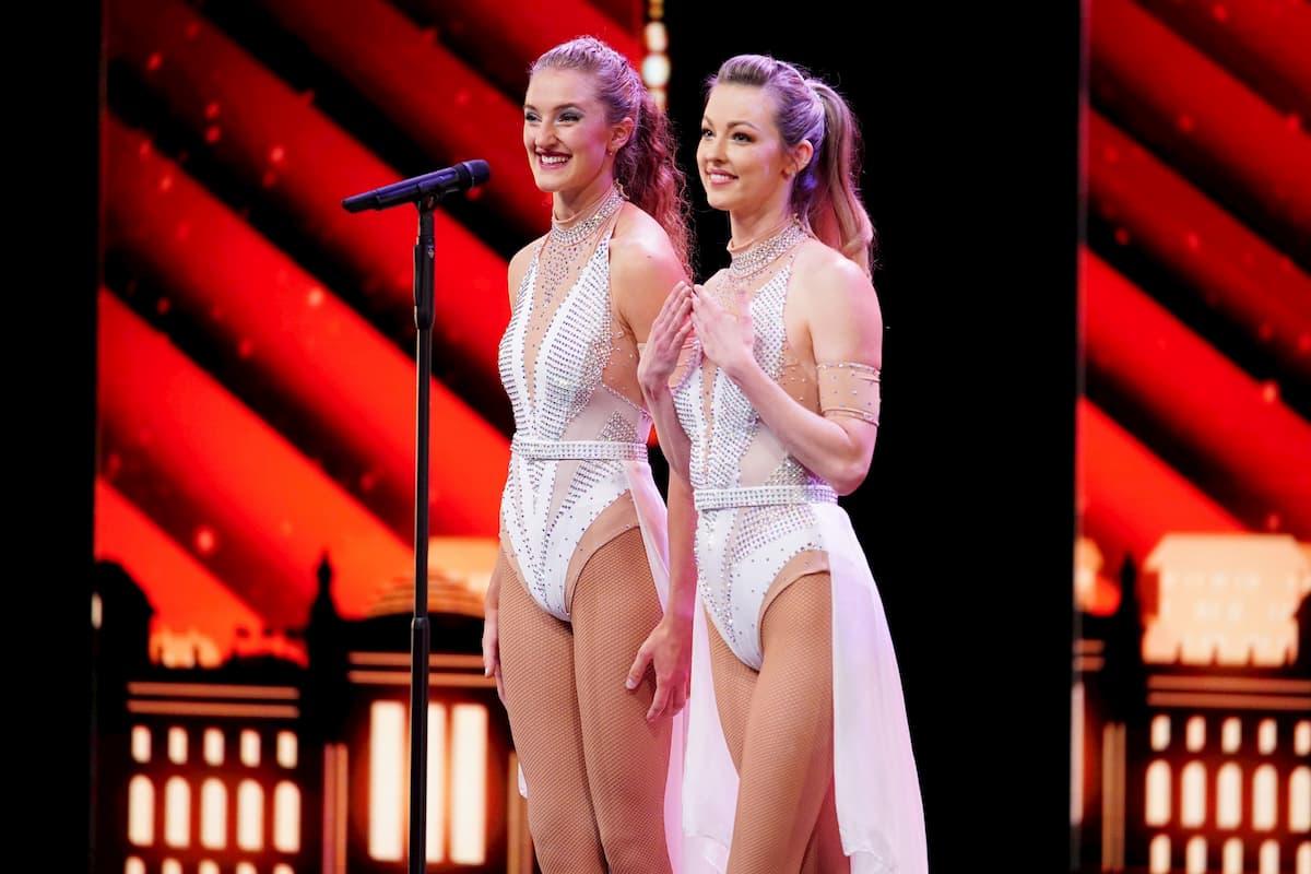Artistinnen Vanessa und Ella als Duo Celestial Storme beim Supertalent am 5.12.2020