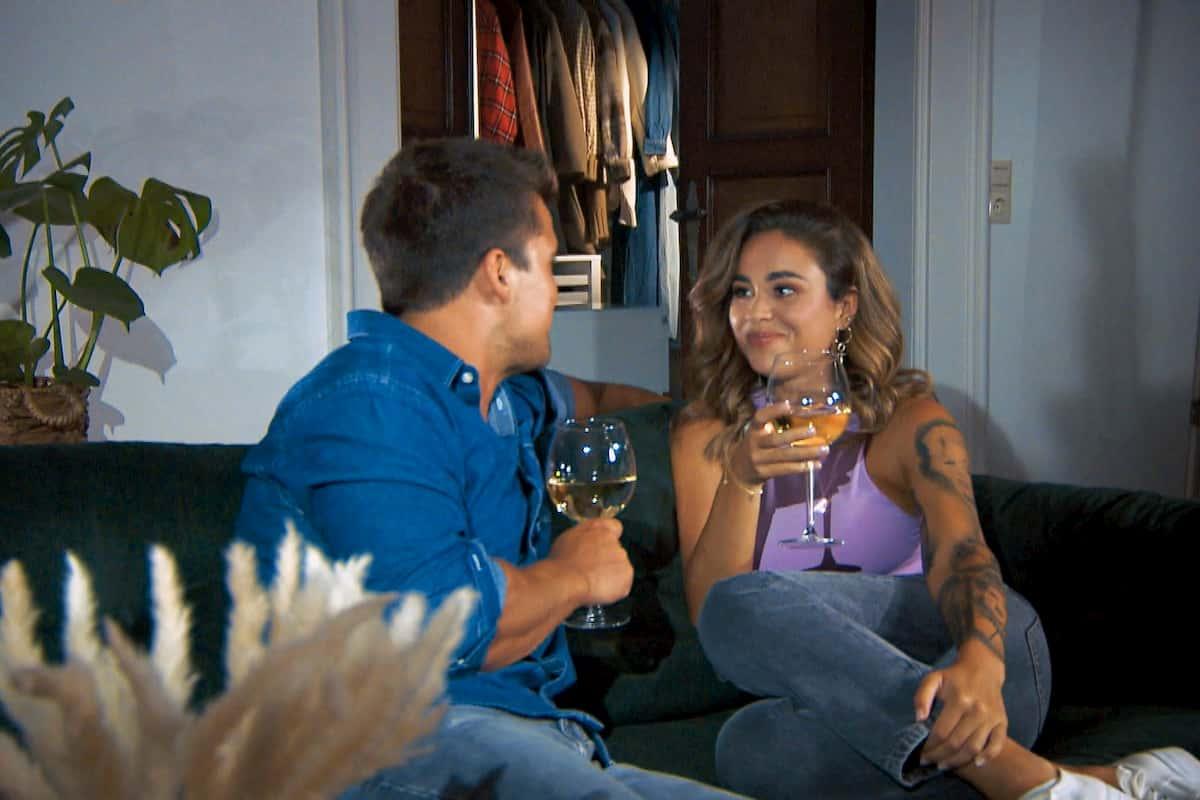 Daniel und Melissa im Finale Bachelorette am 9.12.2020