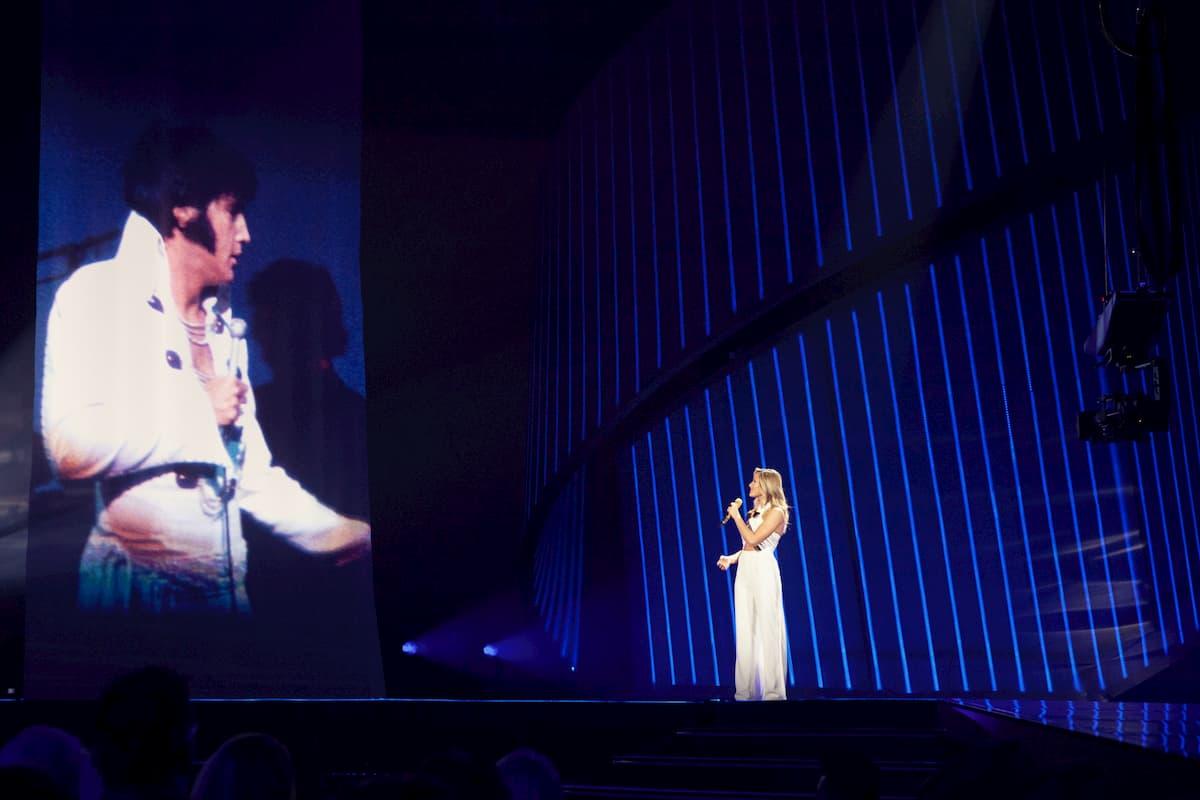 Elvis Presley und Helene Fischer am 25.12.2020 in der Helene Fischer Show