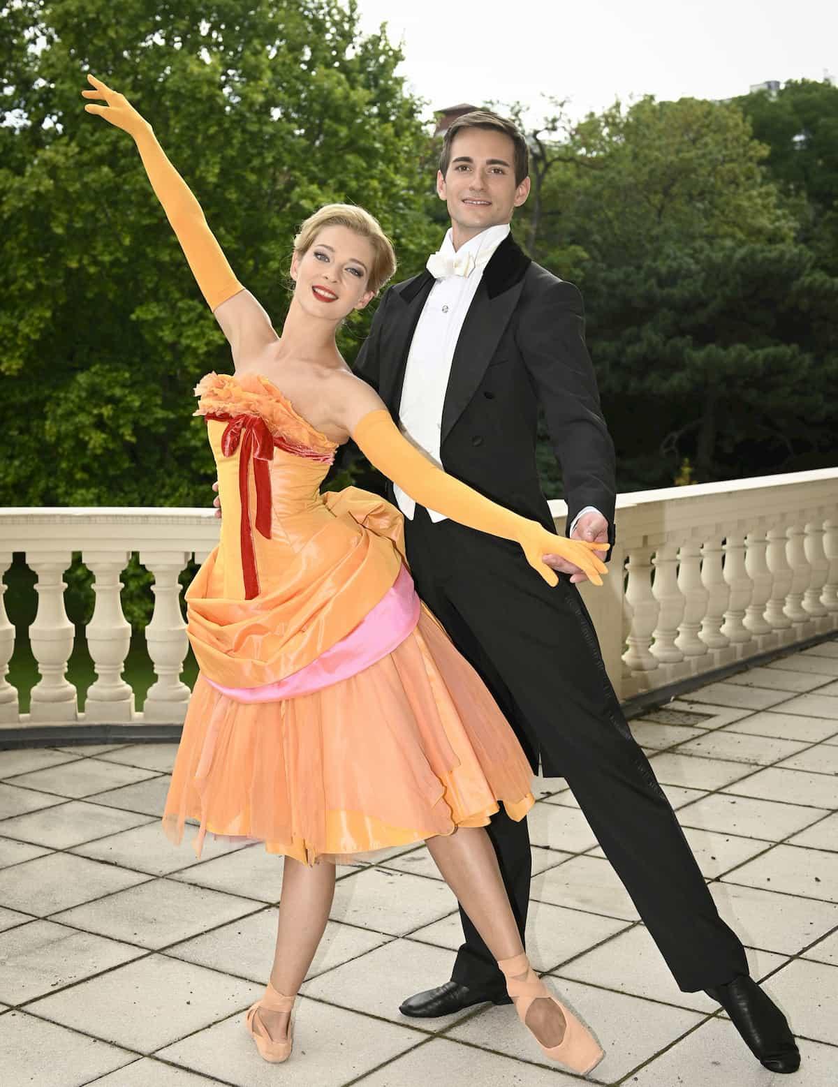 Eszter Ledan und Zsolt Török beim Ballett Neujahrskonzert Wiener Philharmoniker 2021