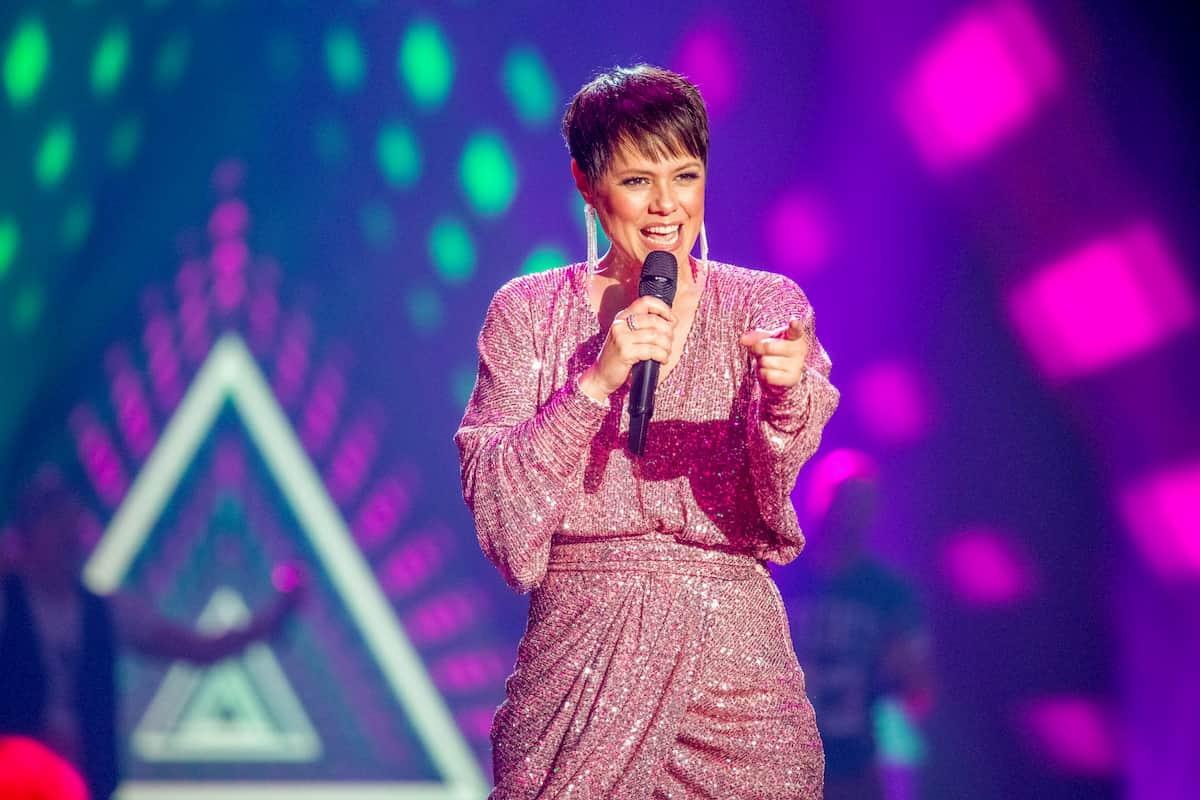 Francine Jordi in der Silvester-Show 31.12.2020 Pilawa in ARD und ORF