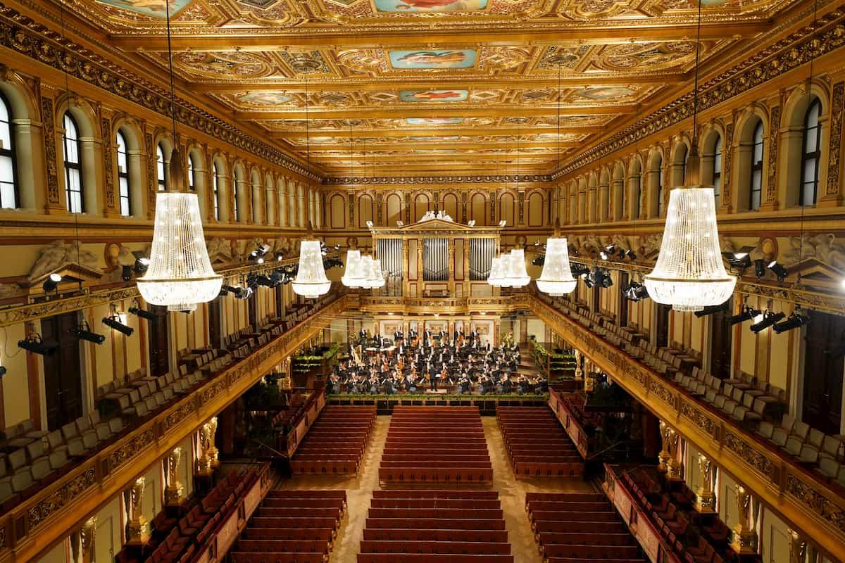 Goldener Saal des Wiener Musikvereins - Spielstätte Neujahrskonzert der Wiener Philharmoniker