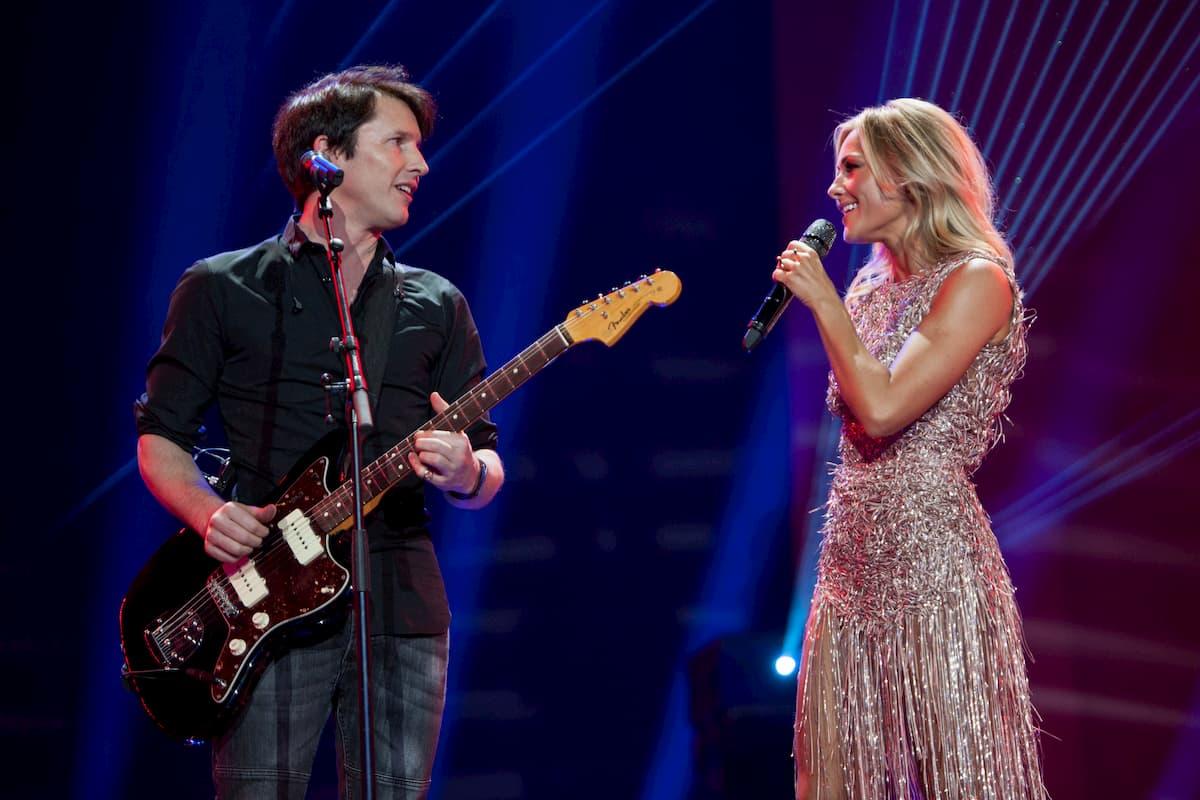 James Blunt mit Helene Fischer am 25.12.2020 in der Helene Fischer Show
