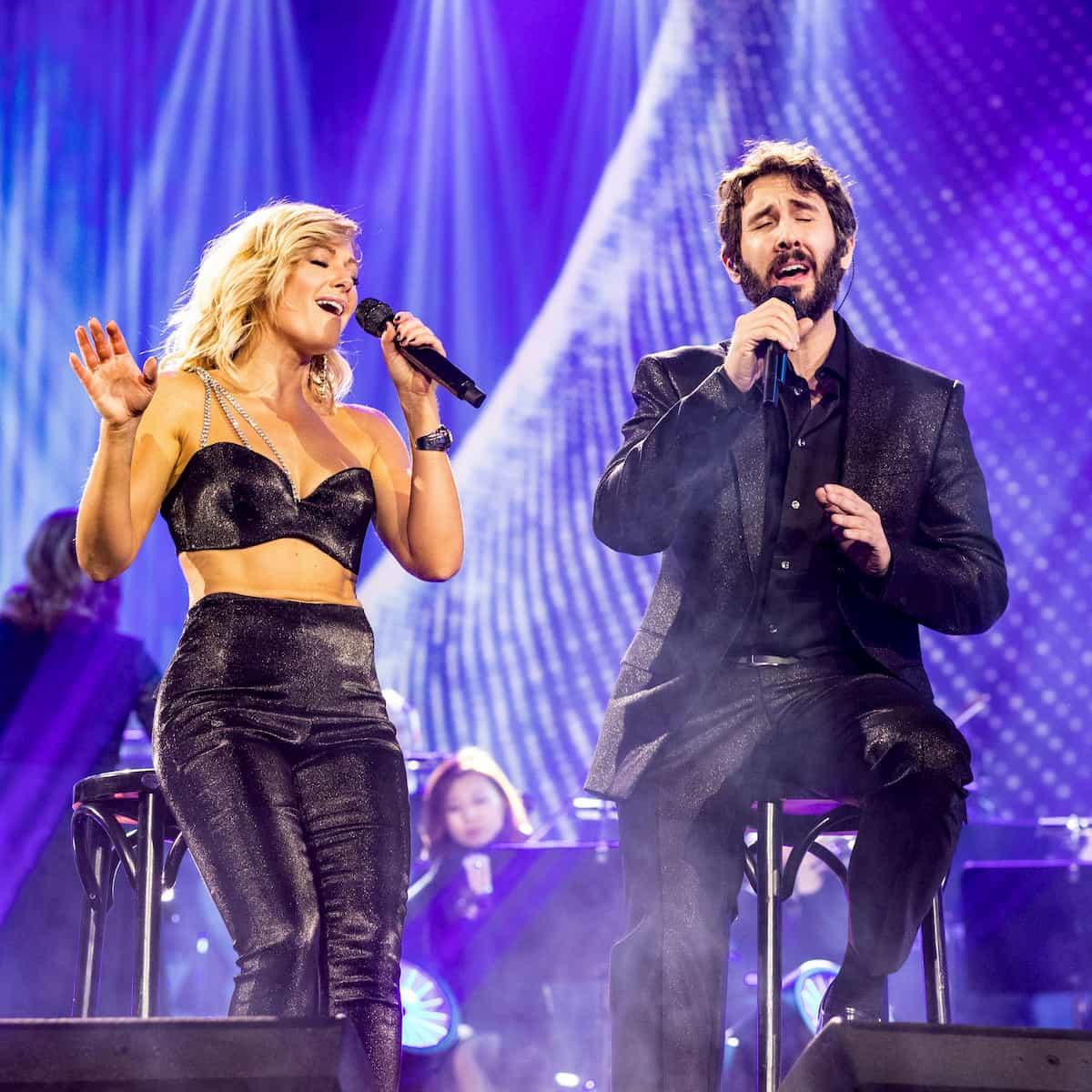 Josh Groban und Helene Fischer am 25.12.2020 in der Helene Fischer Show