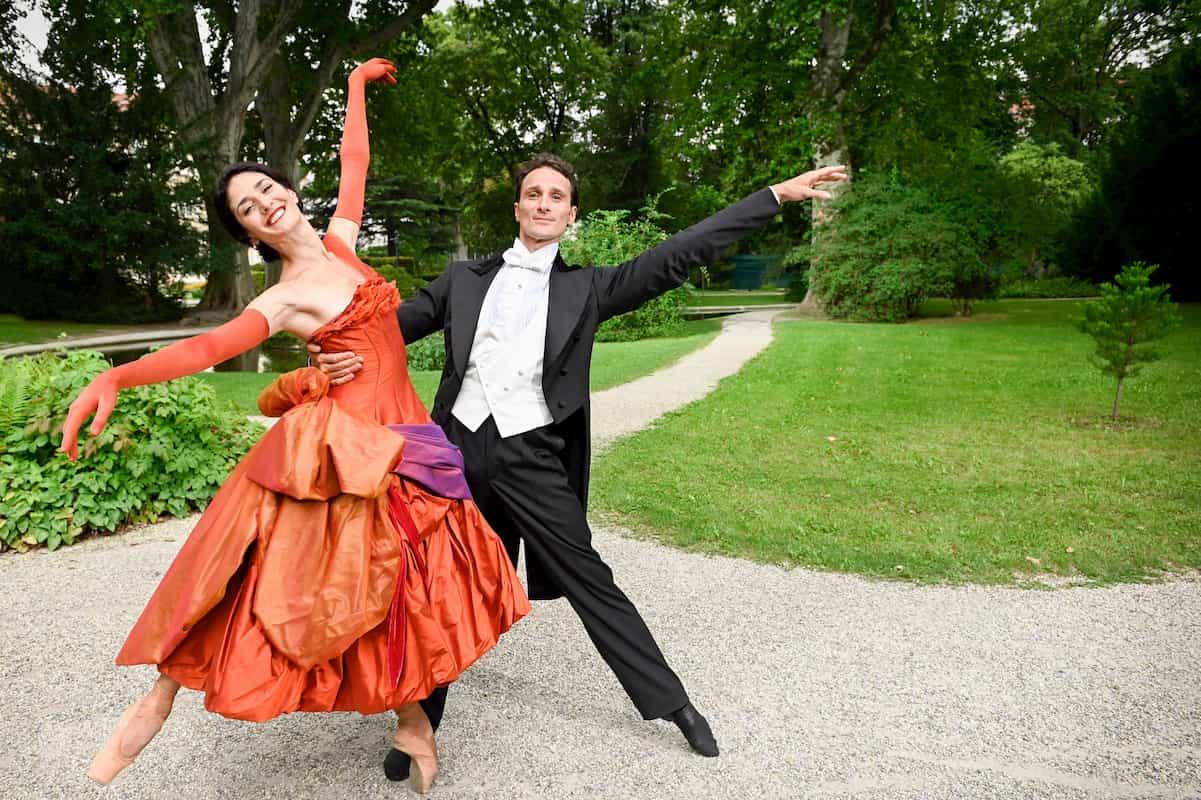 Ketevan Papava und Roman Lazik beim Ballett Neujahrskonzert Wiener Philharmoniker 2021