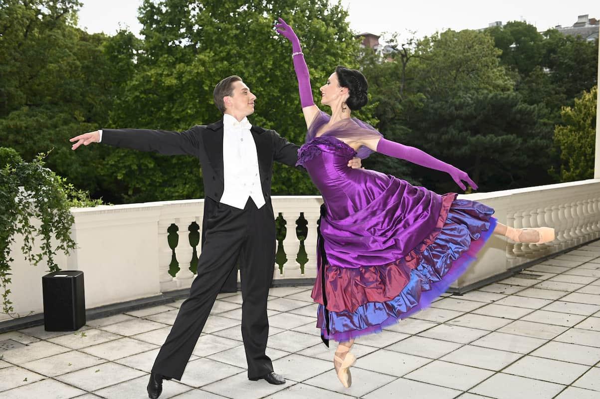 Liudmila Konovalova und Denis Cherevychko beim Ballett Neujahrskonzert Wiener Philharmoniker 2021