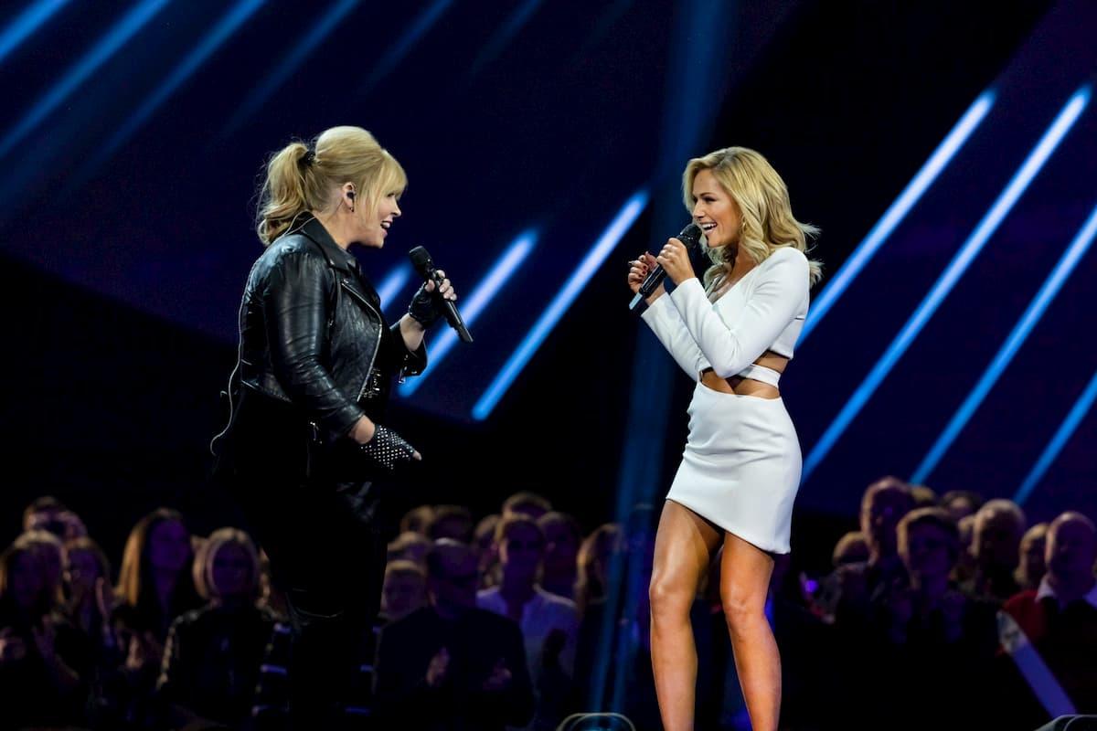Maite Kelly und Helene Fischer am 25.12.2020 in der Helene Fischer Show