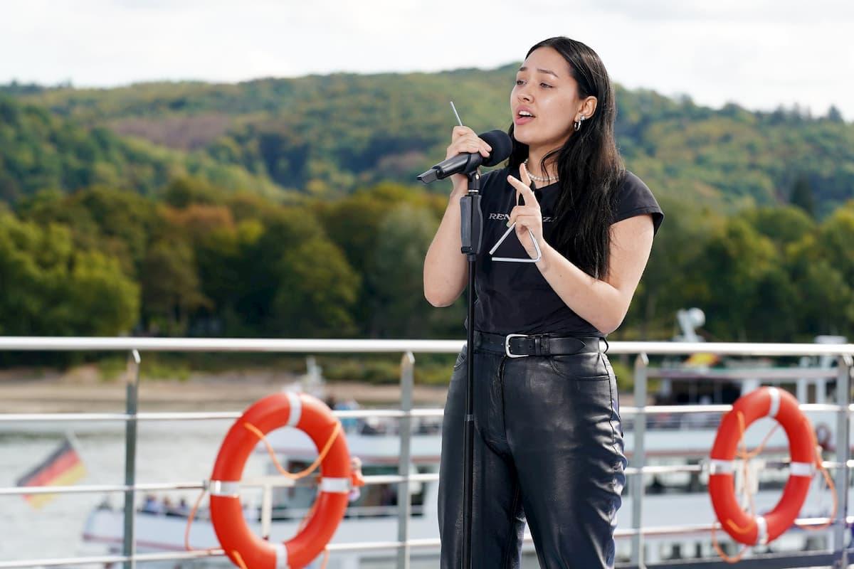 Anna Soomin Klenz bei DSDS am 12.1.2021 als Kandidatin