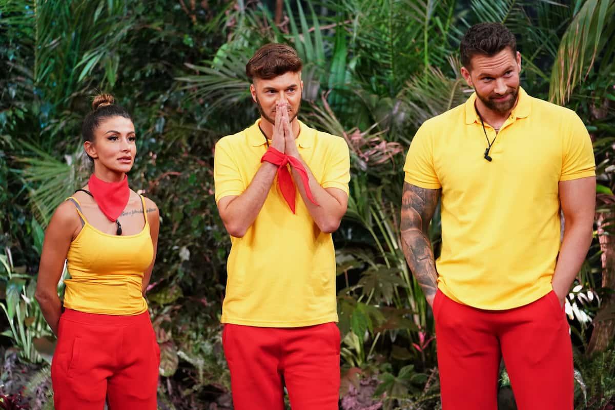 Christina Dimitriou, Sam Dylan, Oliver Sanne in der Dschungelshow 2021 am 21.1.2021