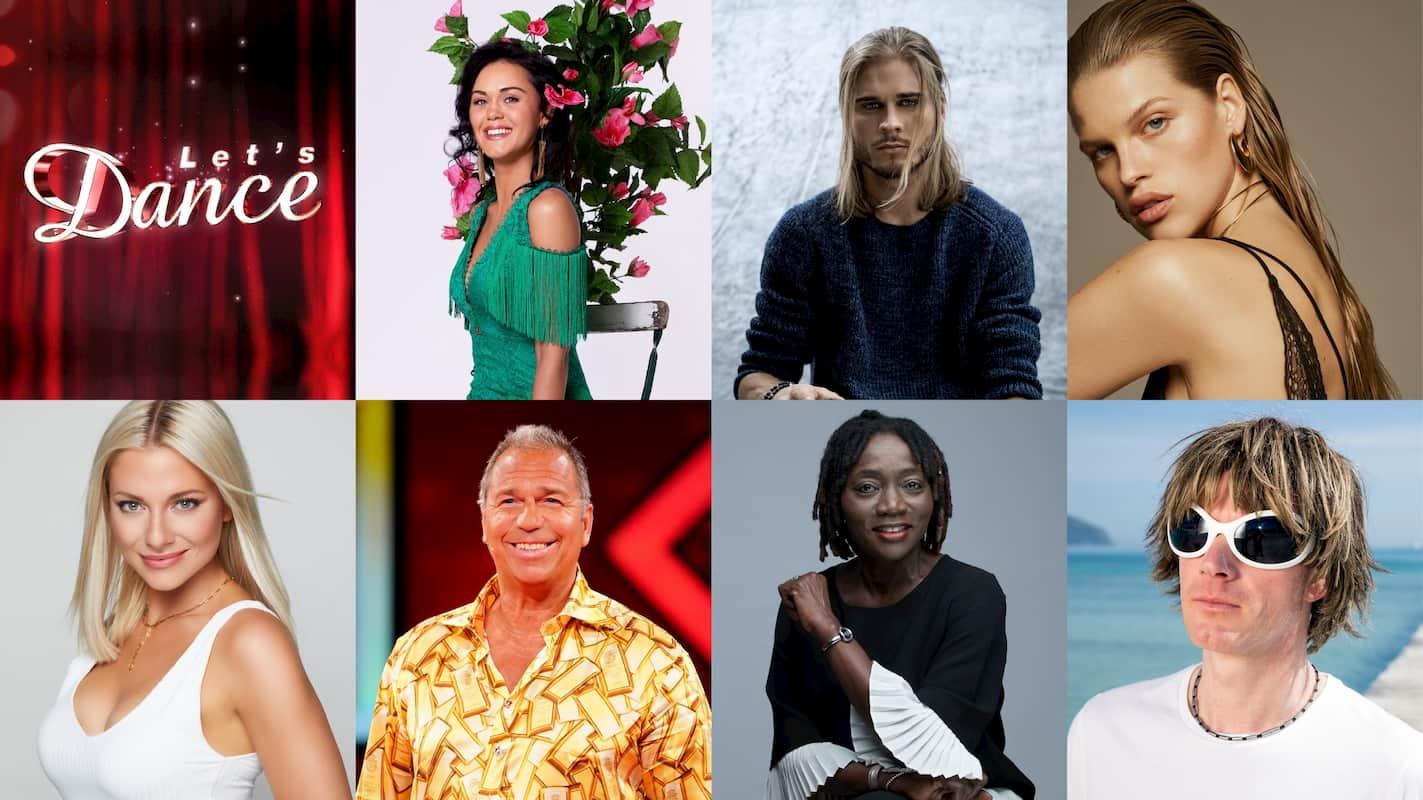 Die Le's dance Kandidaten 2021 Vanessa Neigert, Rùrik Gislason, Kim Riekenberg, Valentina Pahde, Kai Ebel, Auma Obama und Mickie Krause