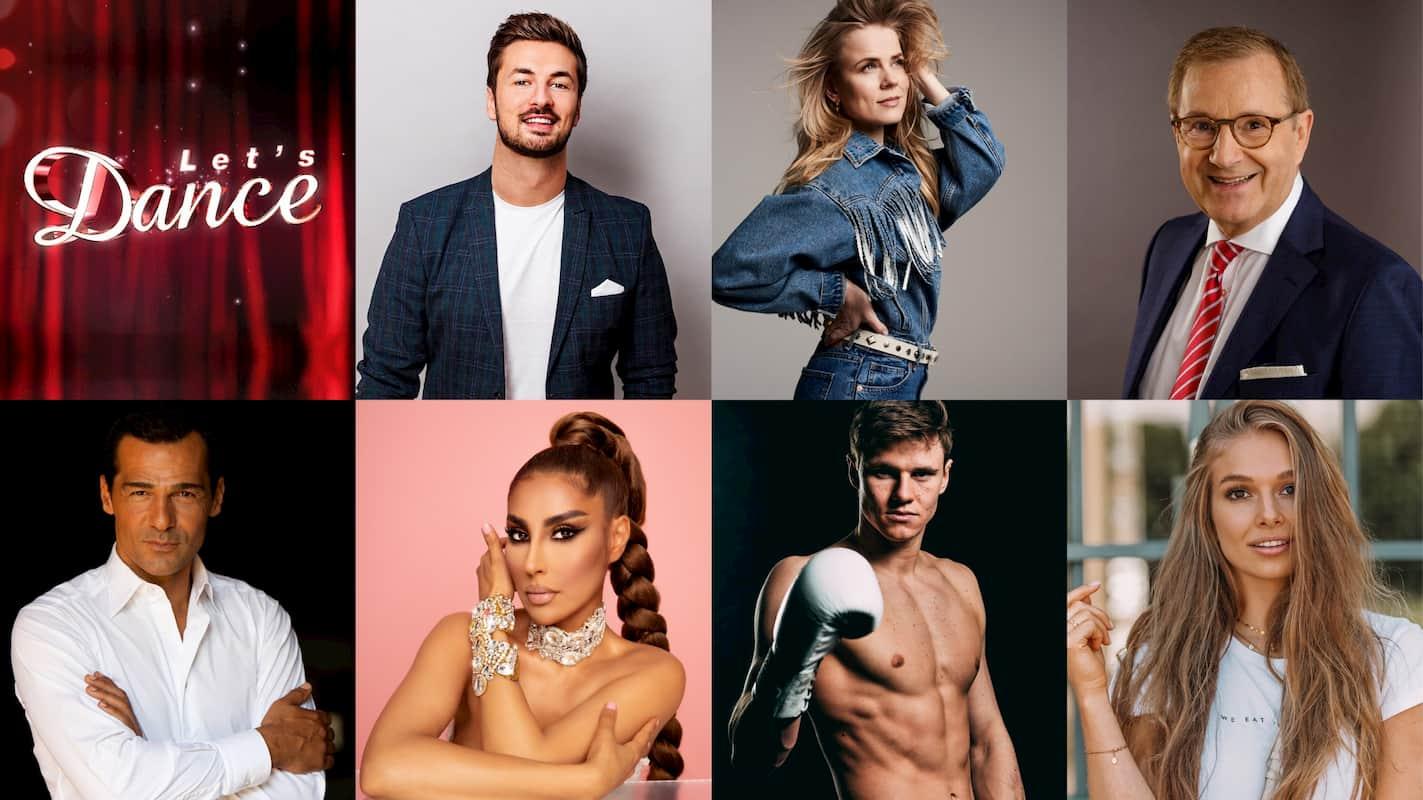 Die Let's dance Kandidaten 2021 Nicolas Puschmann, Ilse DeLange, Jan Hofer, Erol Sander, Senna Gammour, Simon Zachenhuber und Lola Weippert