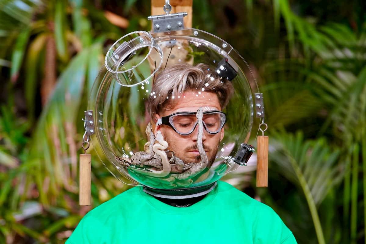 Mike Heiter in der Dschungelprüfung der Dschungelshow am 17.1.2021