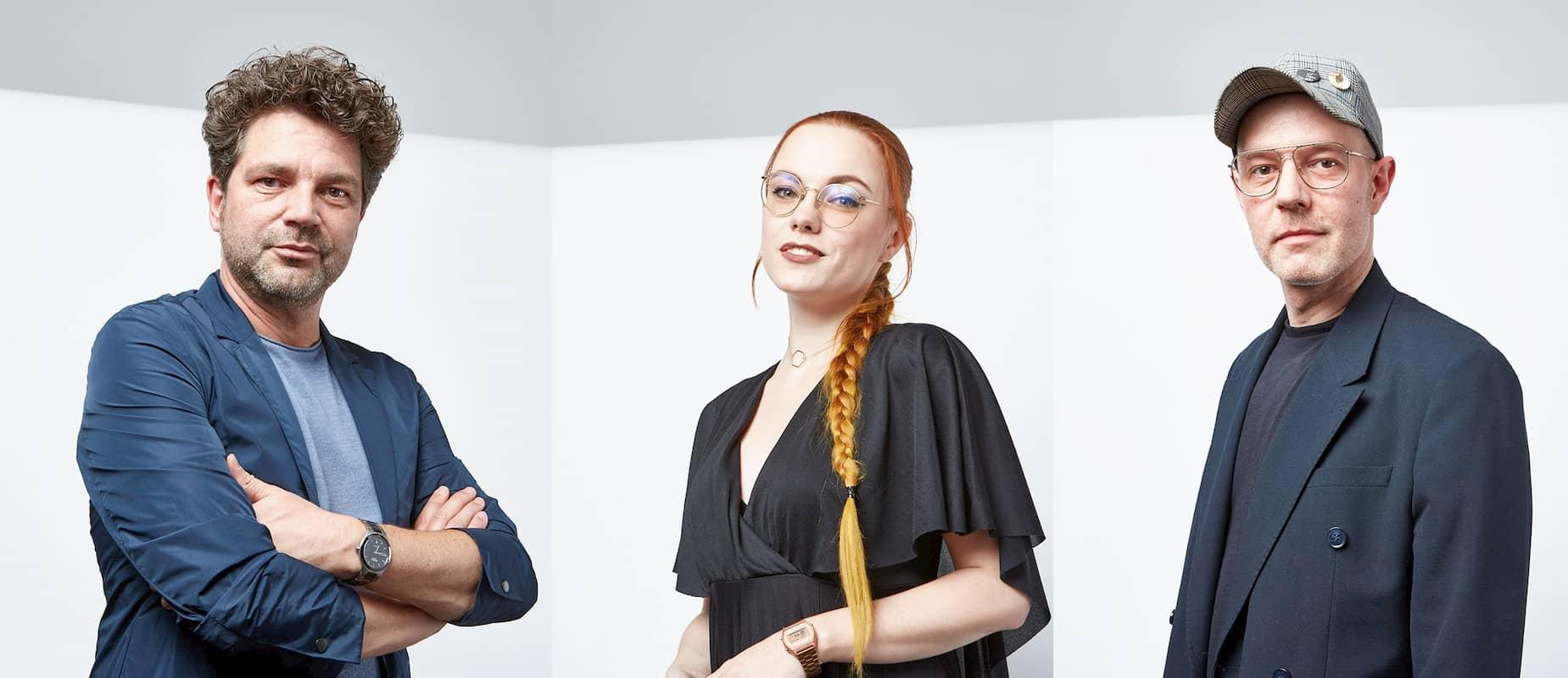 Mode-Team Winter 2021 des Zentralverbandes des Friseurhandwerks - im Bild Antonio Weinitschke, Sarah Scherer und Steven Meth