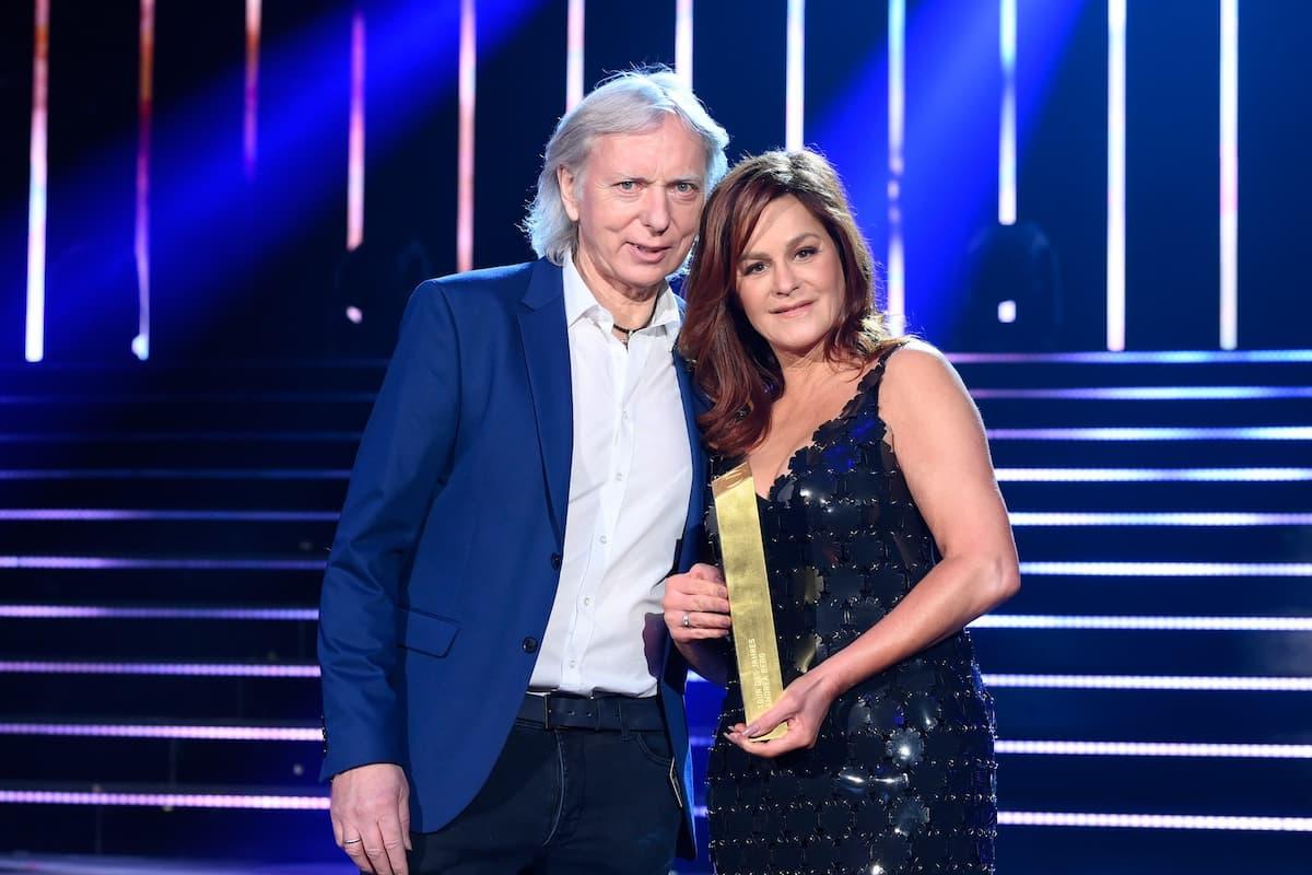 Andrea Berg mit Ehemann Uli Ferber bei den Schlager-Champions 2021 am 27.2.2021