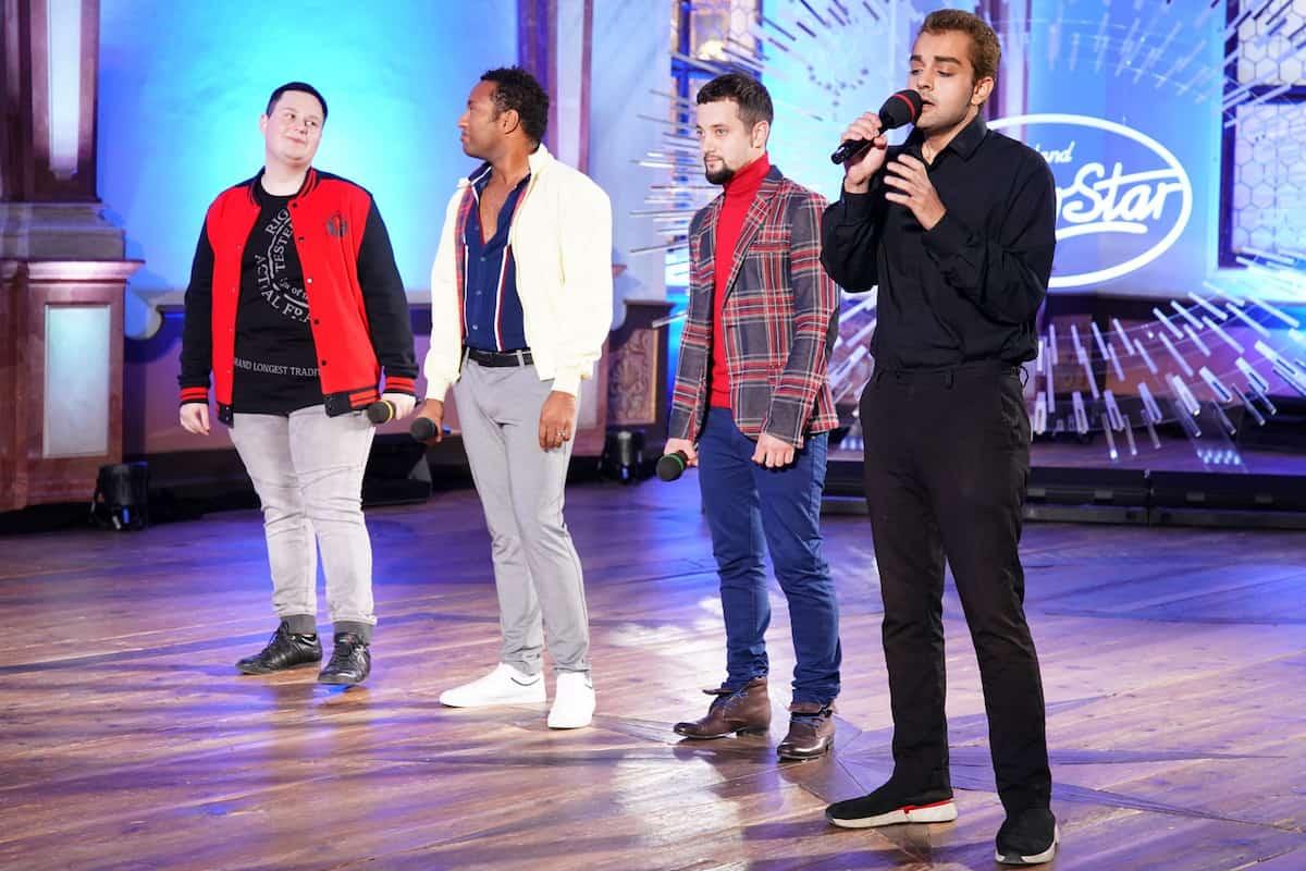 Gruppe 8 mit Matthias Schmidt, Kilian Imwinkelried, Stanislav Surins und Shada Ali