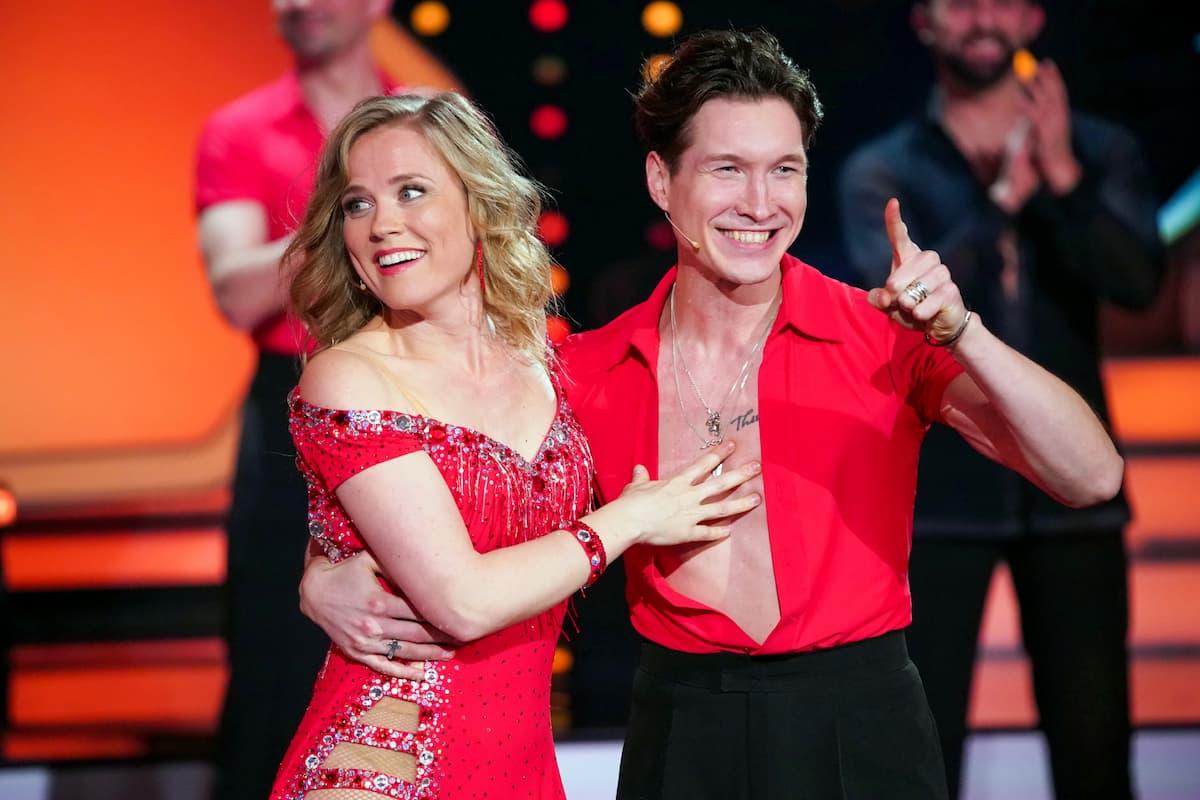Ilse DeLange und Evgeny Vinokurov bei Let's dance am 26.2.2021