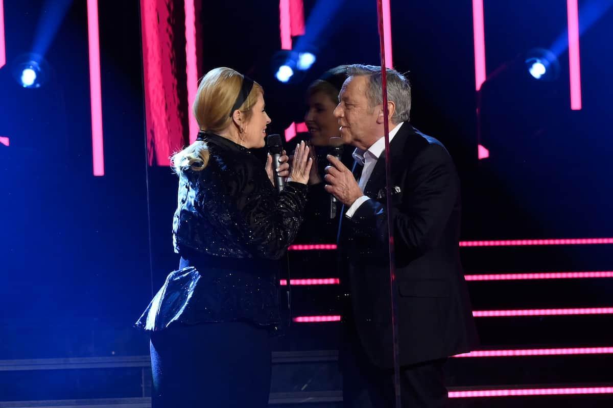 Maite Kelly und Roland Kaiser bei den Schlager-Champions 2021 am 27.2.2021
