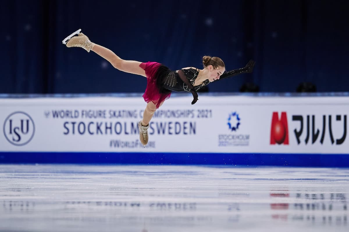 Alexandra Trusova mit Mut in der Kür noch zu Bronze bei der Eiskunstlauf-WM 2021