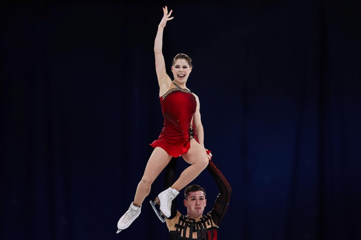 Anastasia Mishina - Aleksandr Galliamov aus Russland - Weltmeister 2021 bei den Eiskunstlauf-Paaren