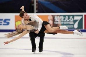 Ergebnisse Eiskunstlauf-Weltmeisterschaft 2021 Ergebnisse aus Schweden - hier im Bild Victoria Sinitsina - Nikita Katsalapov