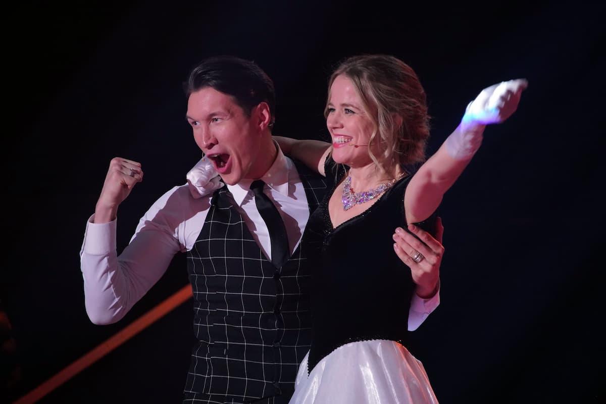 Ilse DeLange und Evgeny Vinokurov bei Let's dance am 5.3.2021