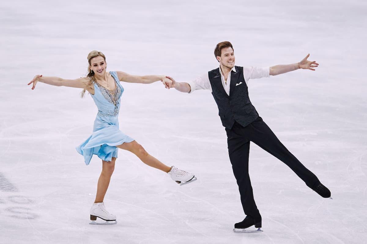 Victoria Sinitsina - Nikita Katsalapov Eistanz-Weltmeister 2021 bei der Eiskunstlauf-WM 2021 im Rhythm Dance