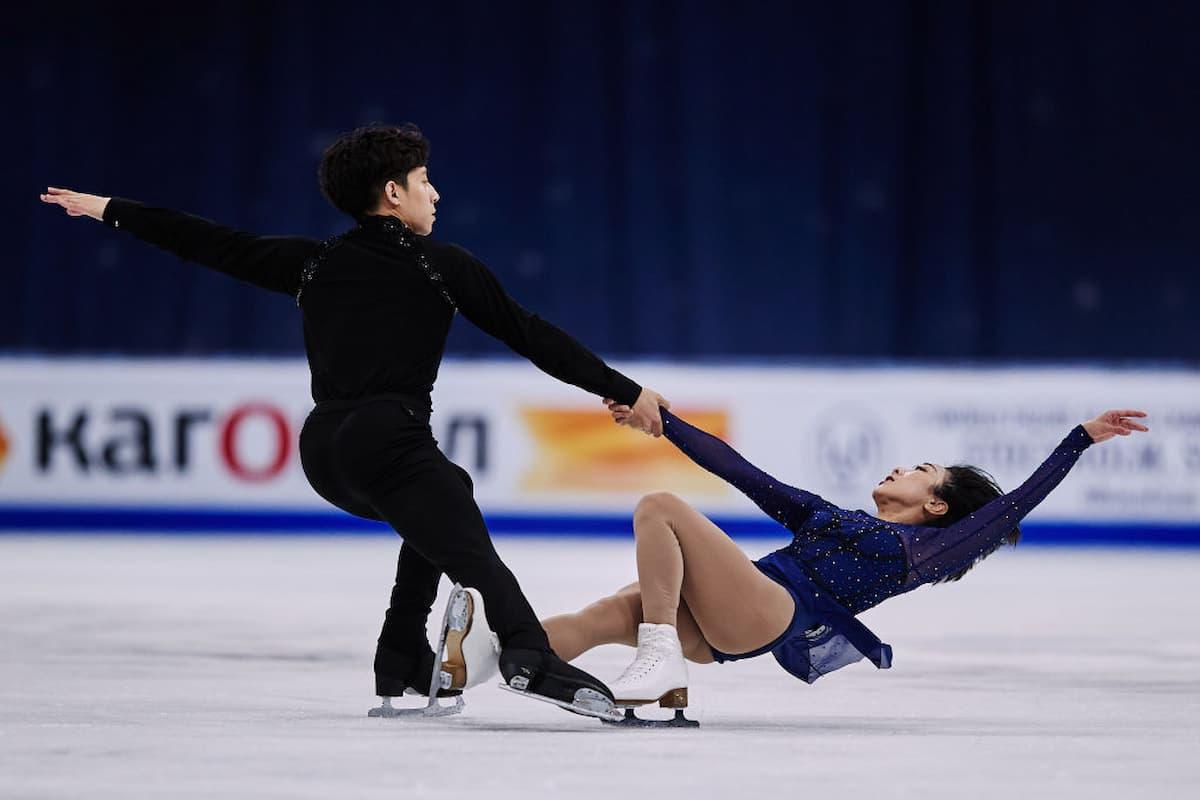 Wenjing Sui - Cong Han aus China - Platz 2 bei der Eiskunstlauf-WM 2021