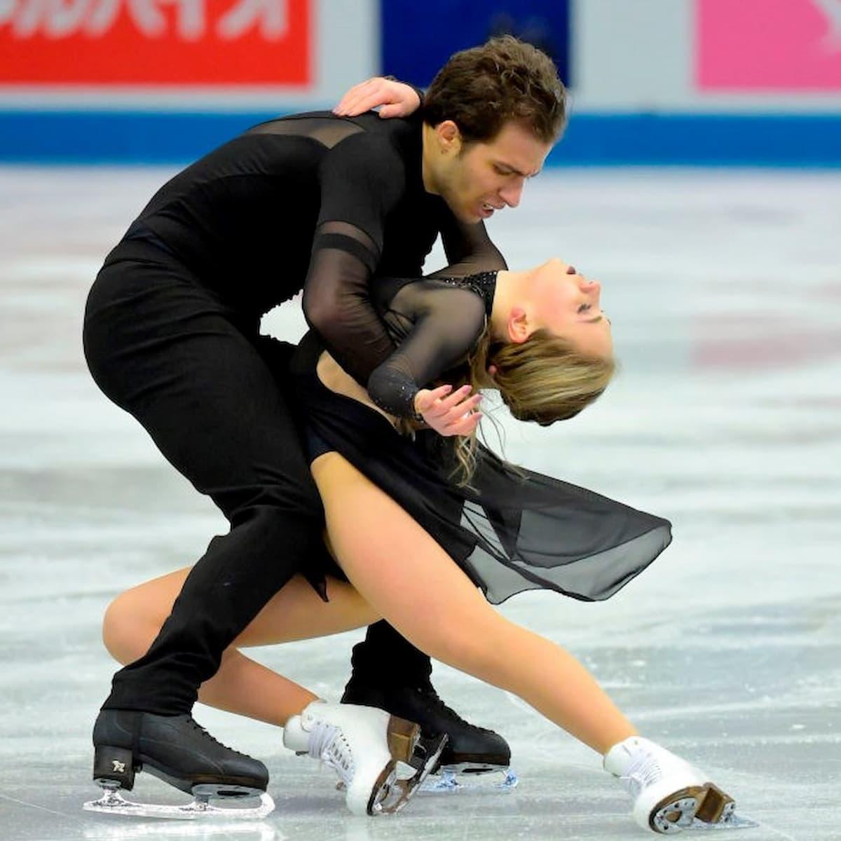 Adelina Galyavieva und Louis Thauron für Frankreich im Eistanz bei der World Team Trophy 2021