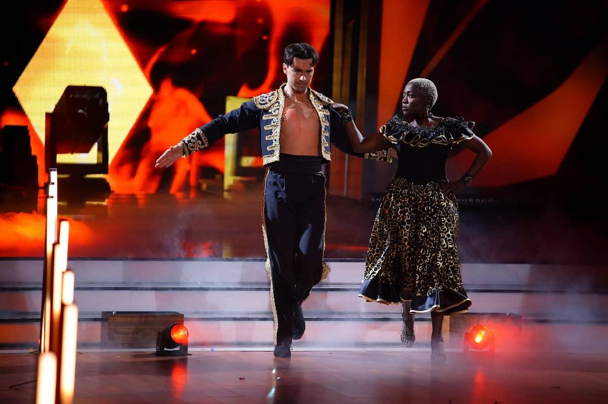 Andrzej Cibis und Auma Obama bei Let's dance am 30.4.2021