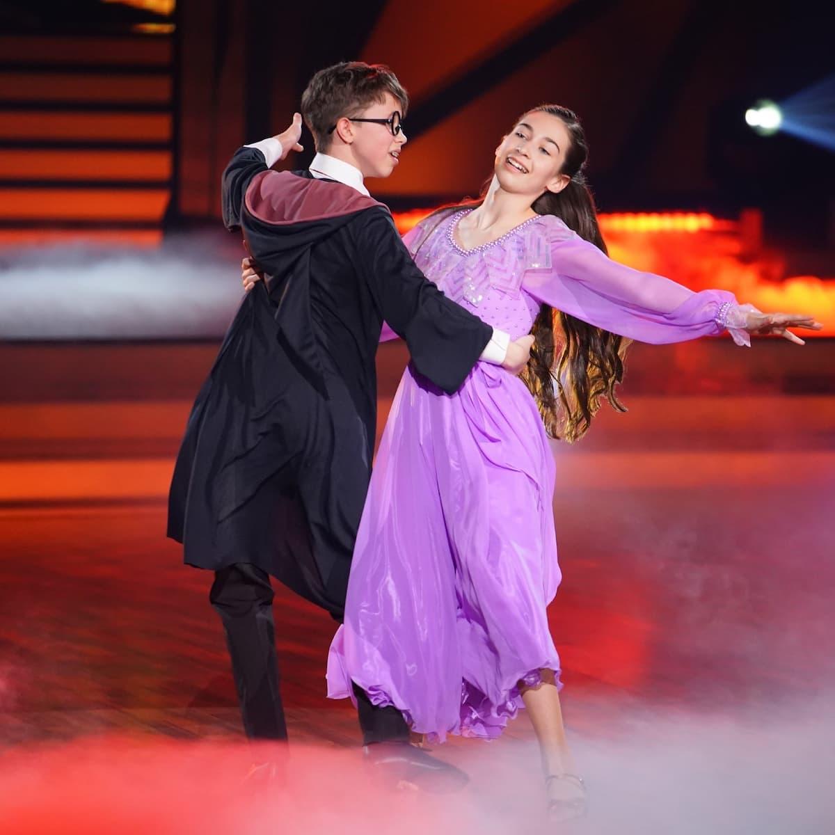 Angelina und Erik bei Let's dance Kids am 23.5.2021