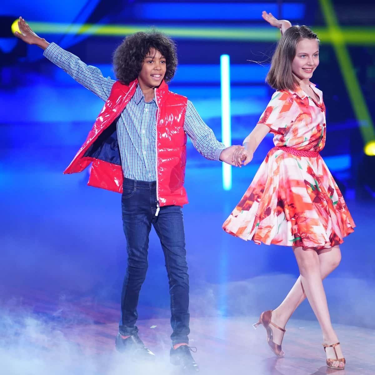 Ausgeschieden bei Let's dance Kids am 23.5.2021 Spencer König und Selma Lohmann