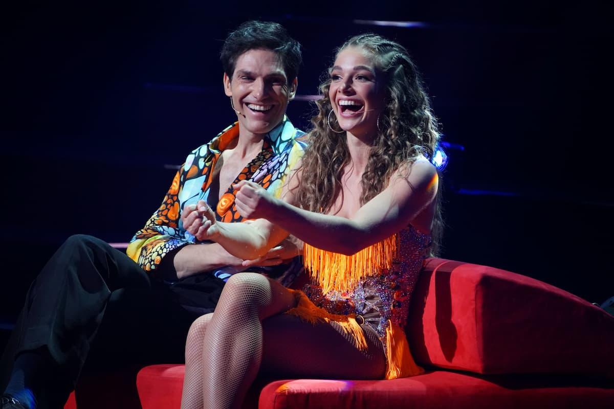 Christian Polanc und Lola Weippert bei Let's dance am 9.4.2021