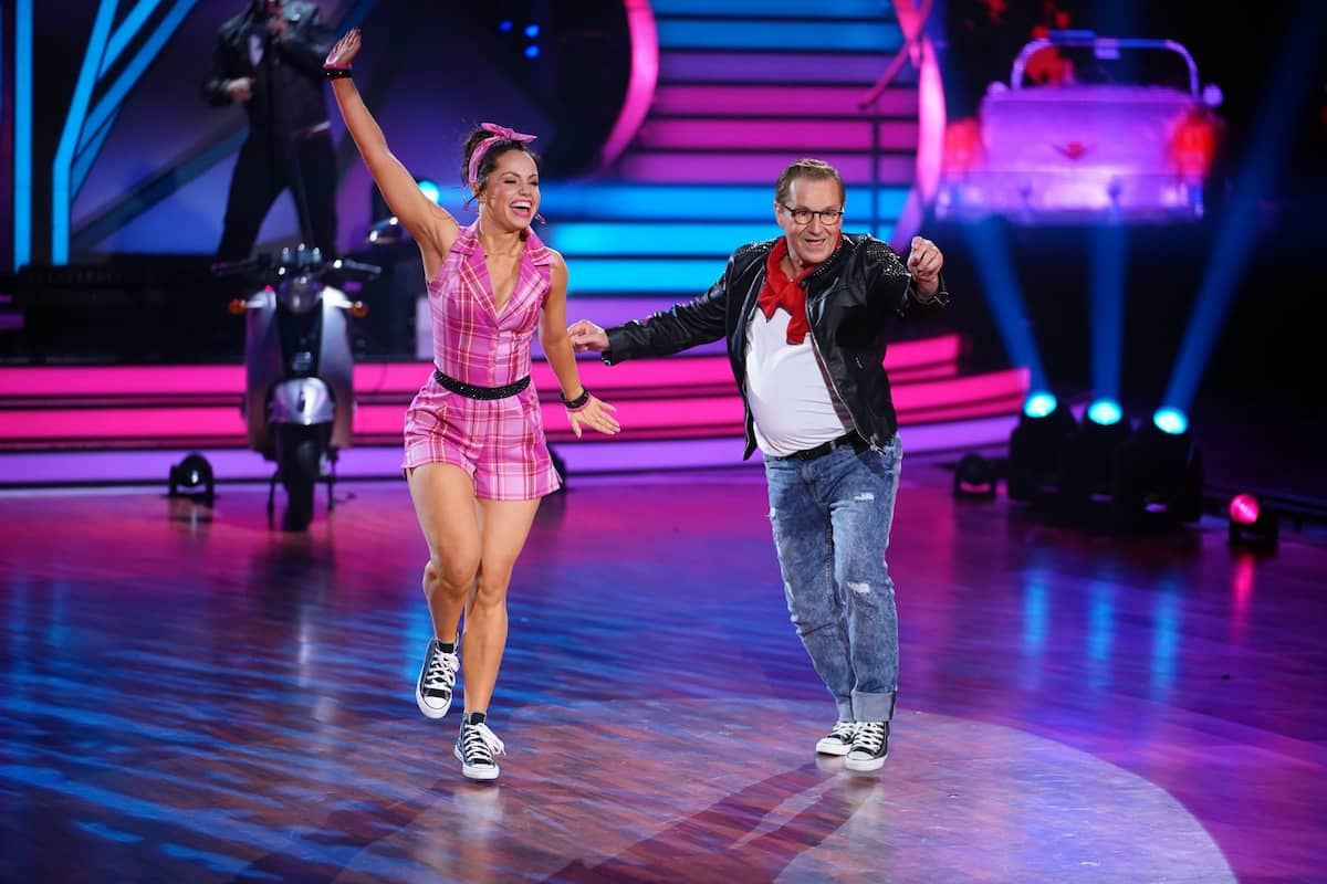Christina Luft und Jan Hofer bei Let's dance am 16.4.2021