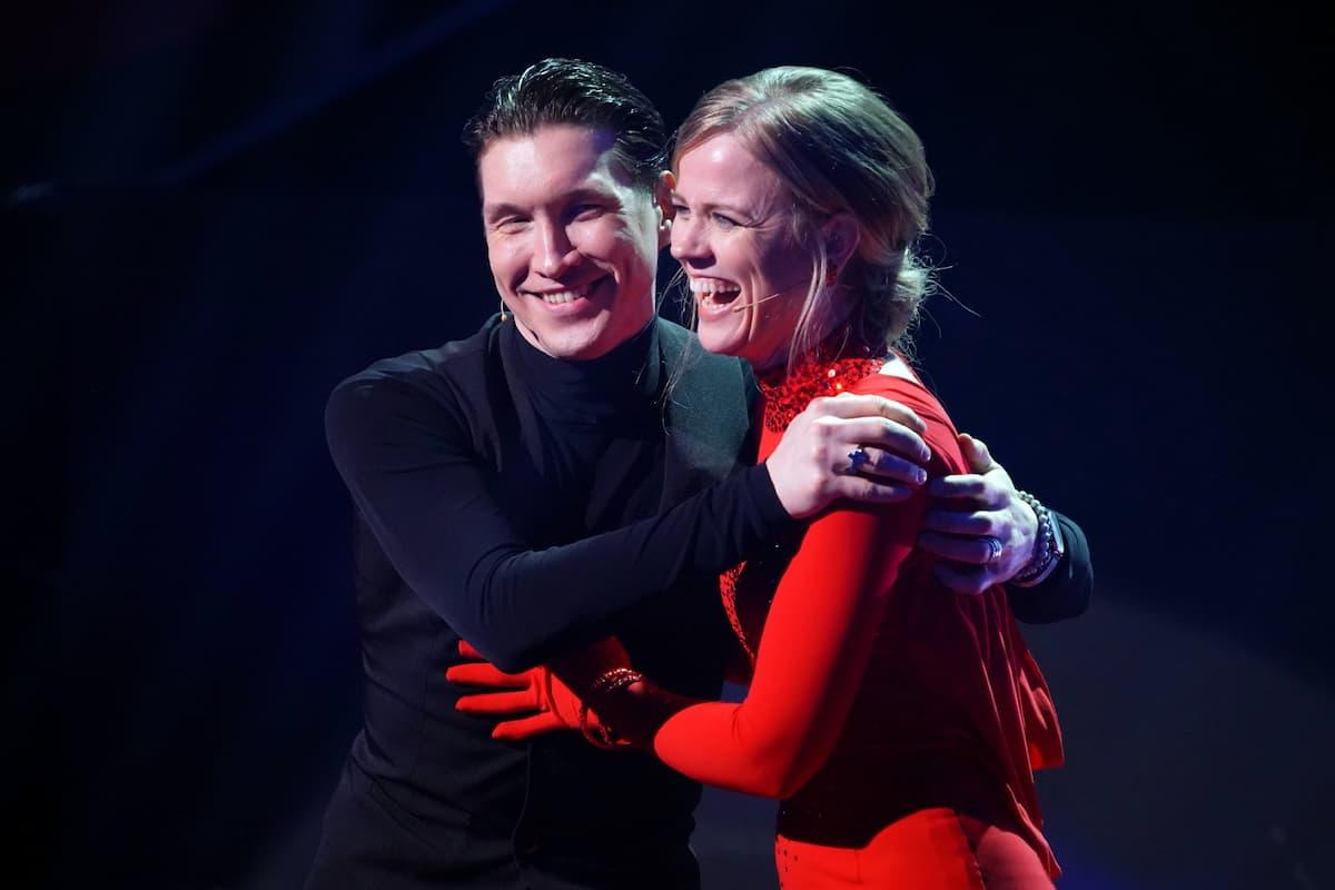 Evgeny Vinokurov und Ilse DeLange bei Let's dance am 9.4.2021