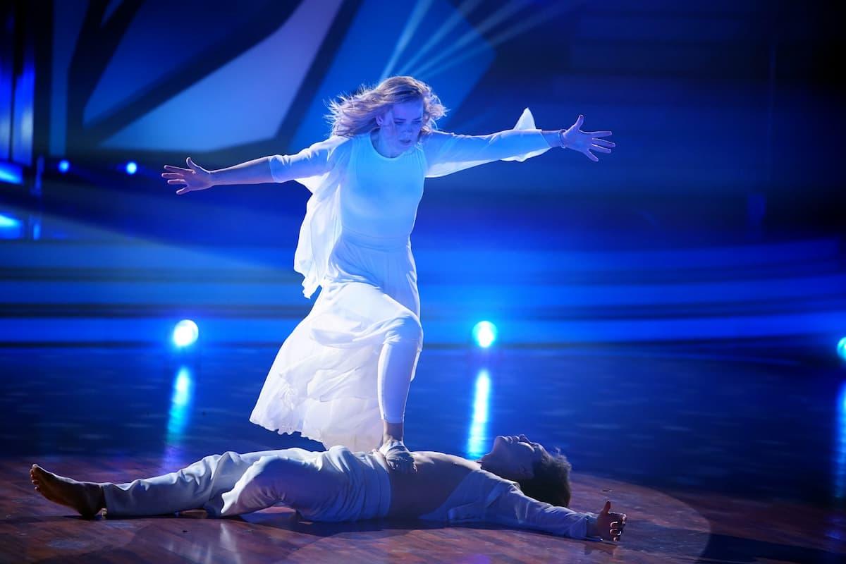 Ilse DeLange und Evgeny Vinkokurov bei Let's dance am 30.4.2021