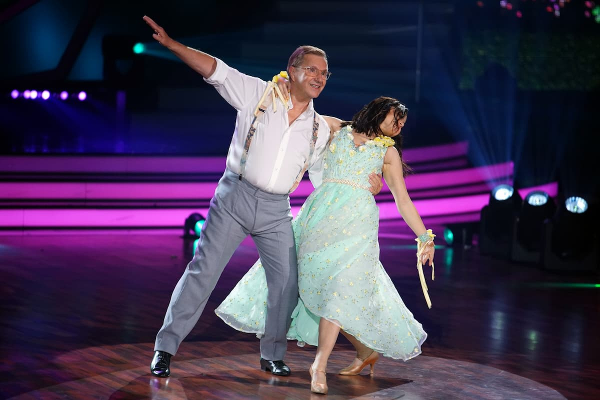 Jan Hofer und Christina Luft bei Let's dance am 9.4.2021