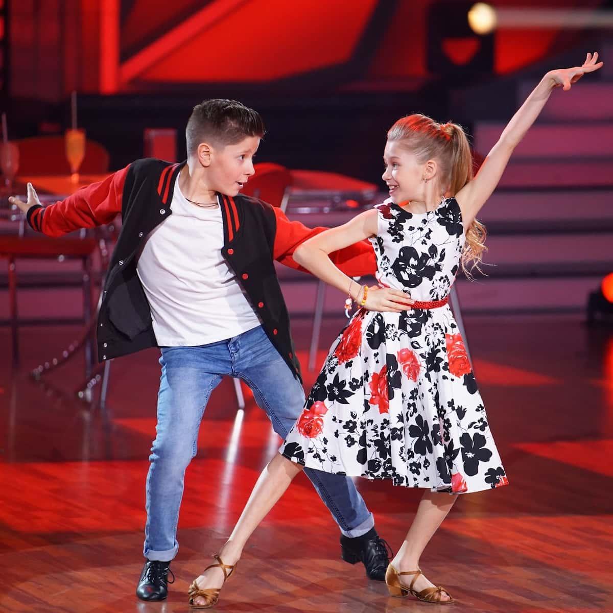 Jona Szewczenko und Tizio bei Let's dance Kids am 30.5.2021