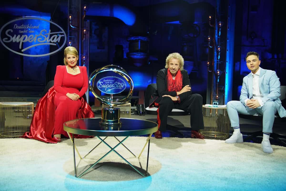 Jury DSDS in den Live-Shows 2021 Maite Kelly, Thomas Gottschalk und Mike Singer