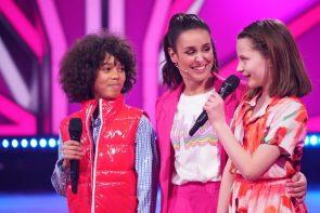 Let's dance Kids am 23.5.2021 Wer ist ausgeschieden Fakten & Meinung - hier im Bild Spencer und Selma mit ihrem Coach Melissa Ortiz-Gomez