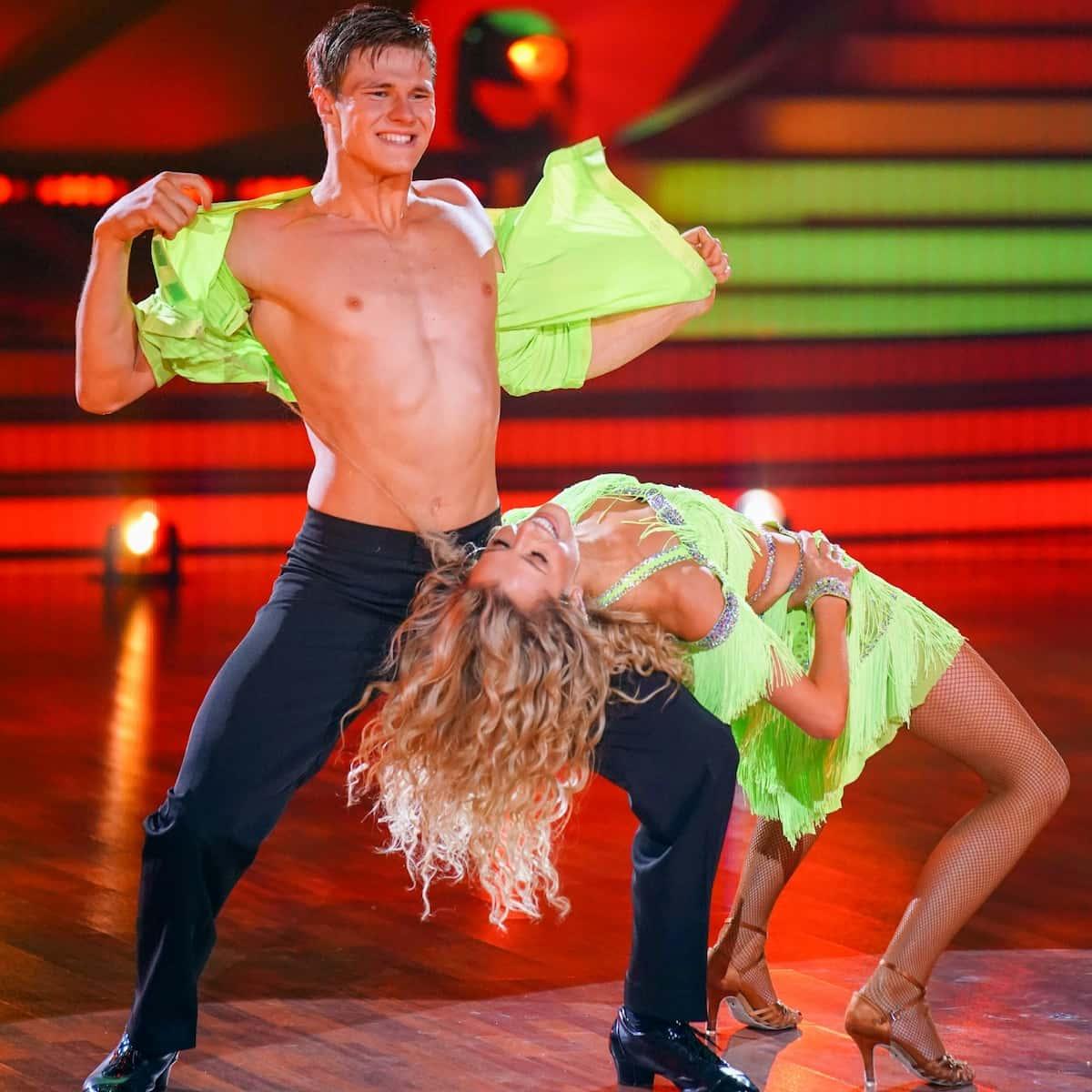 Let's dance am 23.4.2021 Simon Zachenhuber und Patricija Belousova
